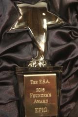 Der neu gestaltete Founder's Award der ESA in seiner Schatulle (Foto: Heinz Peter Mohrdieck)